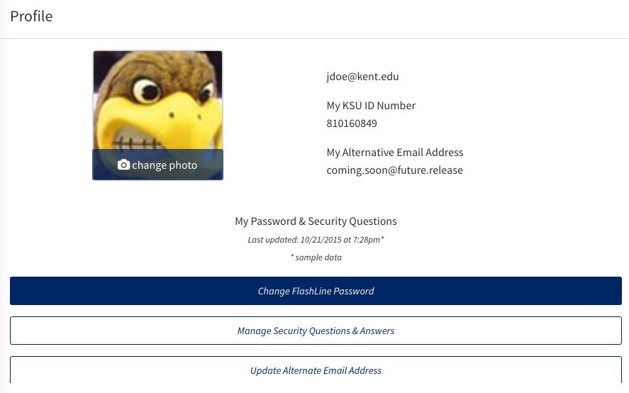 Change Flashline password.