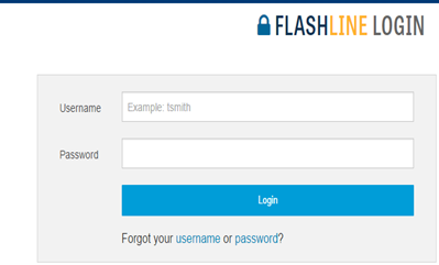 Flashline login screen.