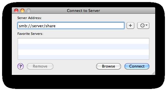 Connect to Server... dialog box.