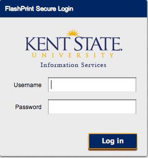 flash print login screen