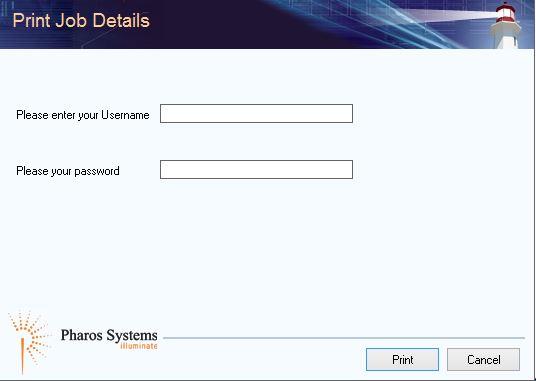 print job details login screen
