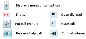 Call window icons